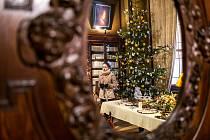 Vánočně vyzdobený Hrádek u Nechanic