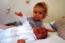 VENDULKA HUDEČKOVÁ se poprvé rozkřičela v úterý 6. ledna v 8 hodin. Na svět přišla s krásnou váhou 3490 gramů a mírou 50 centimetrů. Sestřička Eliška s tatínkem Radkem se už nemůžou dočkat, až si přivezou maminku Lídu a malou Vendulku domů do Hluboké.