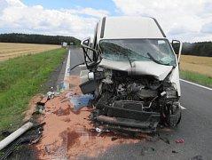 Ke zranění dvou osob došlo v úterý 18. července na silnici I/21 poblíž obce Trstěnice. Celkem se zde srazila čtyři vozidla.