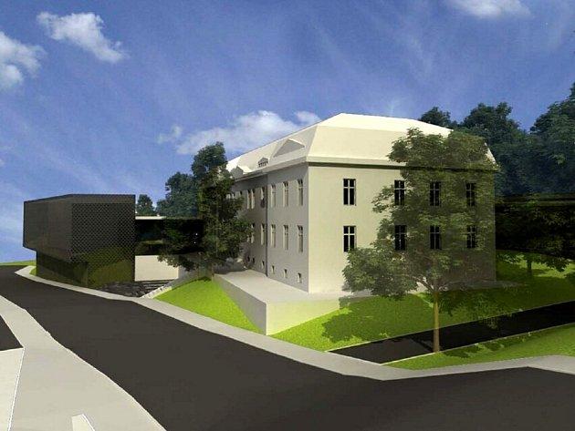 Architektonická studie objektu hospicu v bývalých kasárnách