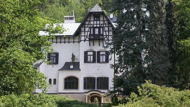 Legendární vila Lil v Mariánských Lázních.