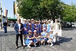 Městský dechový orchestr Cheb spolu s chebskou delegací a taneční skupinou pod vedením Jaroslavy Havlíčkové se zúčastnily slavnostního průvodu, který tradičně pořádalo město Hof. Toto německé město je již řadu let partnerem města Chebu.