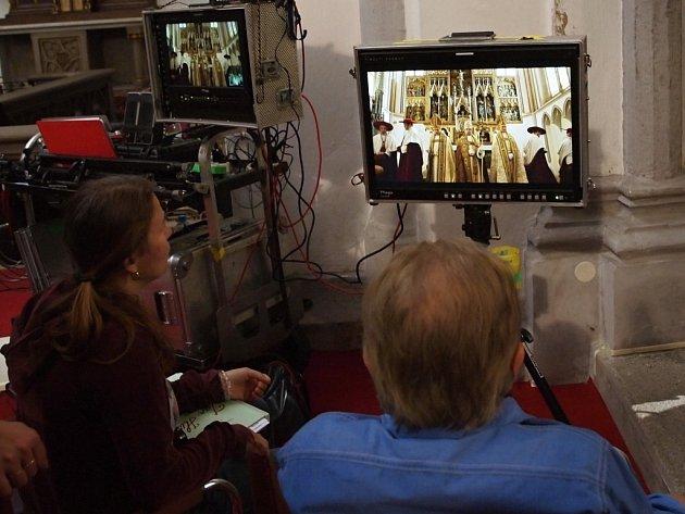 Natáčení filmu o Janu Husovi v Chebu.