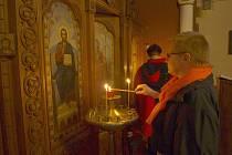 PŘI NOCI KOSTELŮ mohli zájemci zavítat i do nejstaršího pravoslavného chrámu v Čechách, do františkolázeňského chrámu svaté kněžny Olgy.