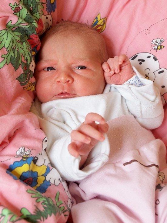 KAROLÍNA IVETA SVOBODOVÁ se poprvé rozkřičela v úterý 1. dubna v 23.58 hodin. Na svět přišla s váhou 3 400 gramů a mírou 48 centimetrů. Z malé Karolínky se těší doma v Chebu maminka Alena a sní celá rodina.