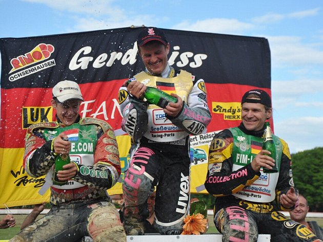 Grand Prix na dlouhé ploché dráze v Mariánských Lázních v sobotu 20. června . Vítězem se stal německý veterán Gerd Riss