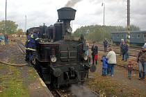 Parní lokomotiva potěšila nejen srdce dětí, ale také rodičů