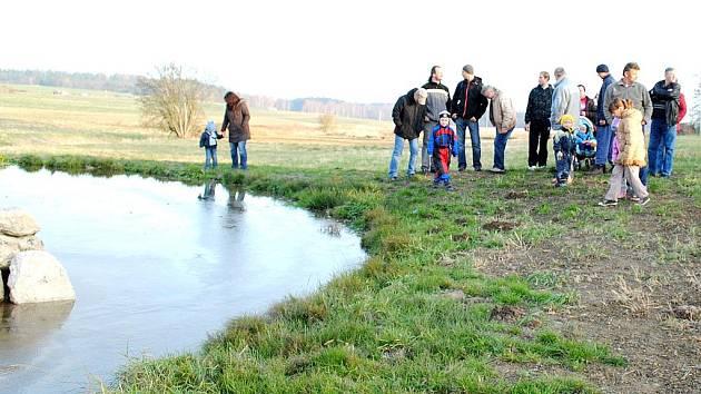 NOVÉ JEZÍRKO v Poustce bude sloužit k rozmnožování zde objevených druhů žab.