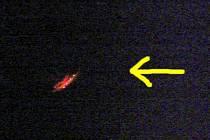 Detail tajemných světel nad Chebem