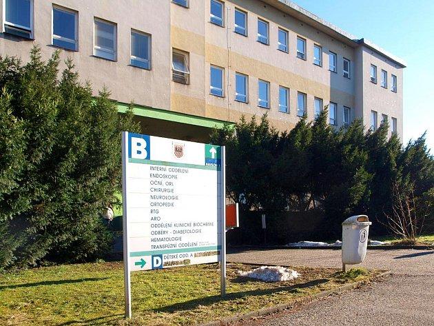 Pavilon B chebské nemocnice.