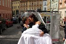 Netradiční svatba v Chebu