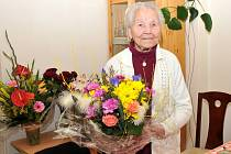 Františka Lokajová z Nového Kostela oslavila sté narozeniny.