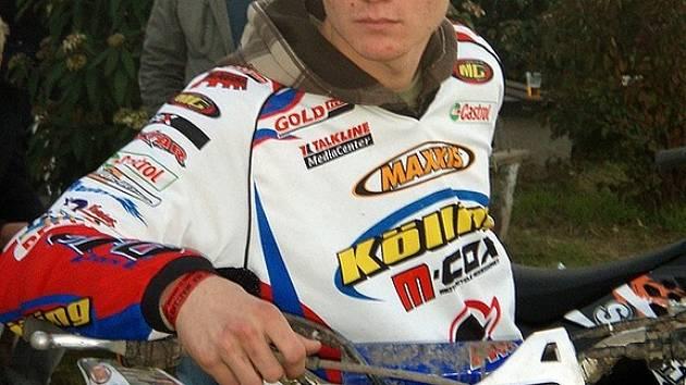 Český juniorský jezdec Petr Smitka z týmu HULHO Aš se stal vítězem ADAC MX Youngster Cup