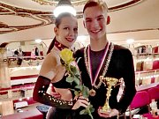 Jan Horník s Adélou Brňákovou se ve starších juniorech ve třídě C probojovali do finále jak v latinskoamerických tancích, tak i ve standardních tancích.