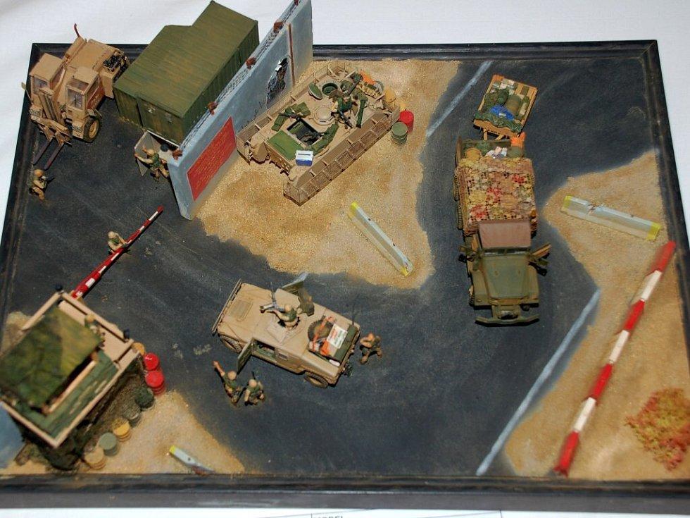 Dioráma Radka Šípa U.S. Army Base. První mésto v kategorii Kadeti - diorámy