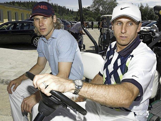Pavel Nedvěd a Karel Poborský na golfovém turnaji v Hazlově na Chebsku
