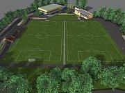 VIZUALIZACE toho, jak bude po rekonstrukci vypadat chebské sportoviště Lokomotiva.