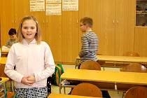 LINDA VOSTRÁ, žákyně 2.B na chebské základní škole v Hradební ulici, vyzpívala v celostátním kole Karlovarského skřivánka třetí místo.