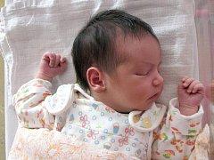 JULIE LADIČOVÁ  z Aše  se narodila v sokolovské porodnici  a měřila 47 centimetrů a  vážila 2,920 kilogramů.