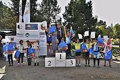 Téměř sto dvacet dětí se zúčastnilo čtrnáctého ročníku závodu na horských kolech a odrážedlech v areálu chebské Krajinky.