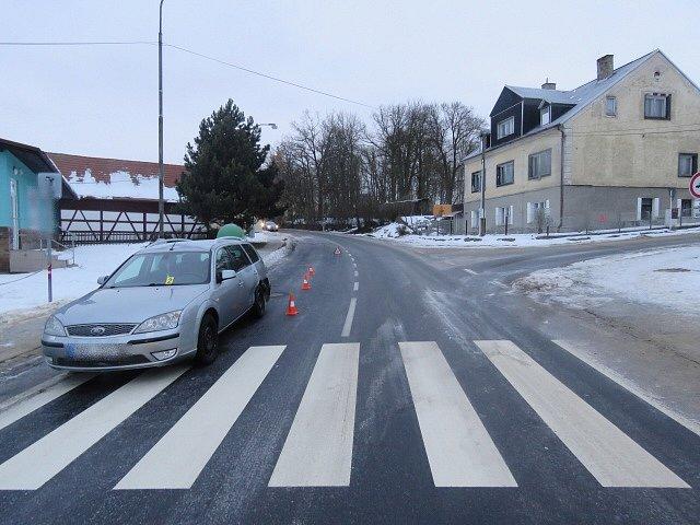 Nehoda ve Františkových Lázních.