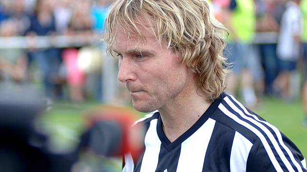 Pavel Nedvěd odehrál mistrovské utkání I.B třídy ve Skalné.