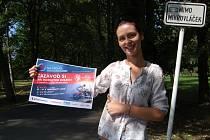 NA PRÁCI HOSTESKY při akci S ČT sport na vrchol aneb nová chuť cyklistiky 2015 se už připravuje také Agnieszka Piotrowska z františkolázeňského infocentra.