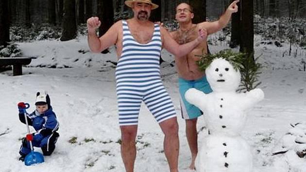 Ivan Hložek (vlevo) a Petr Hůrka se zimy nebojí.