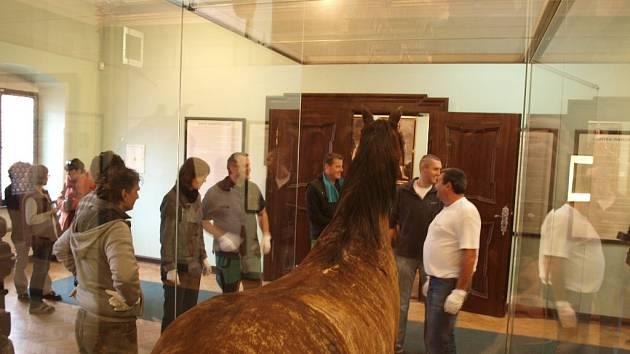 K mimořádné zápůjčce sbírkových předmětů svolilo chebské muzeum. Na výstavu do německého města Halle zapůjčilo několik osobních věcí Albrechta z Valdštejna. A to nejzajímavější - vůbec poprvé v historii chebského muzea opustí budovu i Valdštejnův kůň.