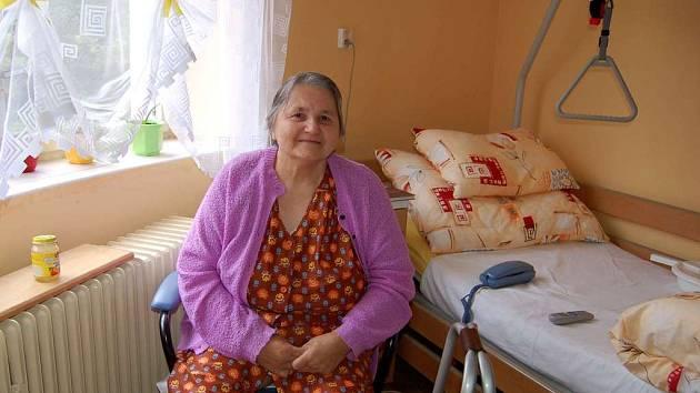 Marta Hamrlová, klientka léčebny dlouhodobě nemocných v Chebu