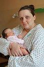 ELIŠKA KŘIVÁNKOVÁ bude mít v rodném listě datum narození úterý 11. dubna v 8.52 hodin. Při narození vážila 3 800 gramů. Maminka Marcela a tatínek Ladislav se těší z malé Elišky doma v Drmoulu.