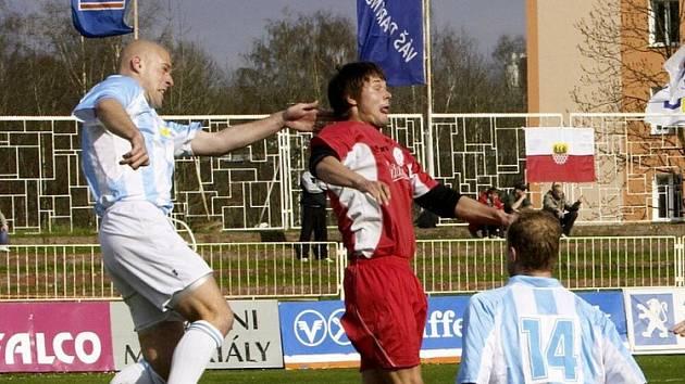 Fotbalové utkání Union Cheb - Náchod skočilo výsledkem 1:0