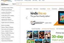 Webový portál internetového obchodu Amazon.