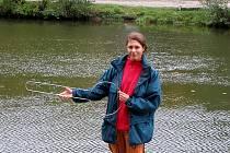 Zamykání řeky Ohře v Chebu