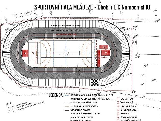 Projektová dokumentace plánované výstavby sportovní haly.
