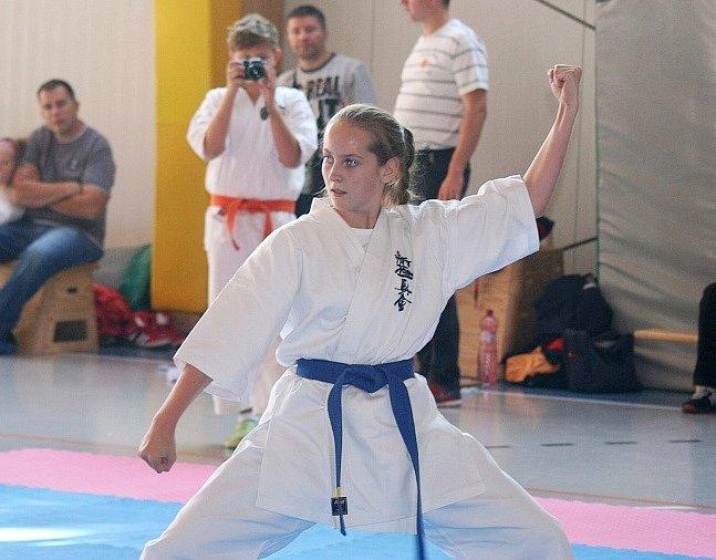 Romana Dvořáková získala v soutěži kata bronz.