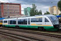 Motorová jednotka Desiro na chebském nádraží