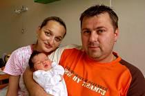 ELIŠKA ŽÁČKOVÁ přišla na svět v chebské porodnici 8. července v 5.50 hodin. Měřila 50 centimetrů a vážila 3,34 kilogramu