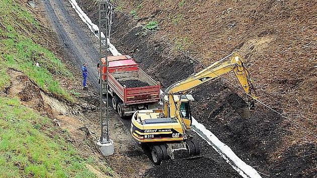 Rekonstrukce železničního koridoru v Lázních Kynžvartu.