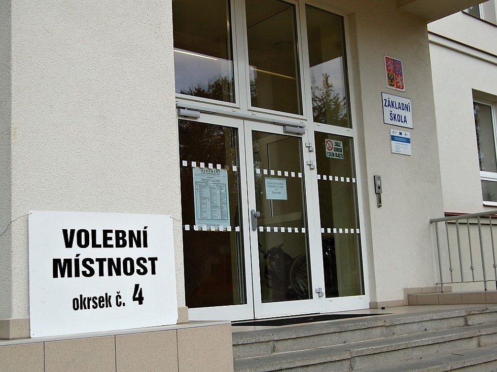 Čtvrtý volební okrsek ve Františkových Lázních je tradičně umístěn v místní základní škole.