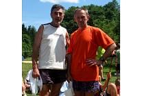 Jan Sklenář (vlevo) a Josef Milota obsadill ve čtyřdenních orietnačních závodech u Jindřichova Hradce druhá místa.