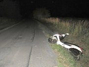 Motocyklista nezvládl zatáčku
