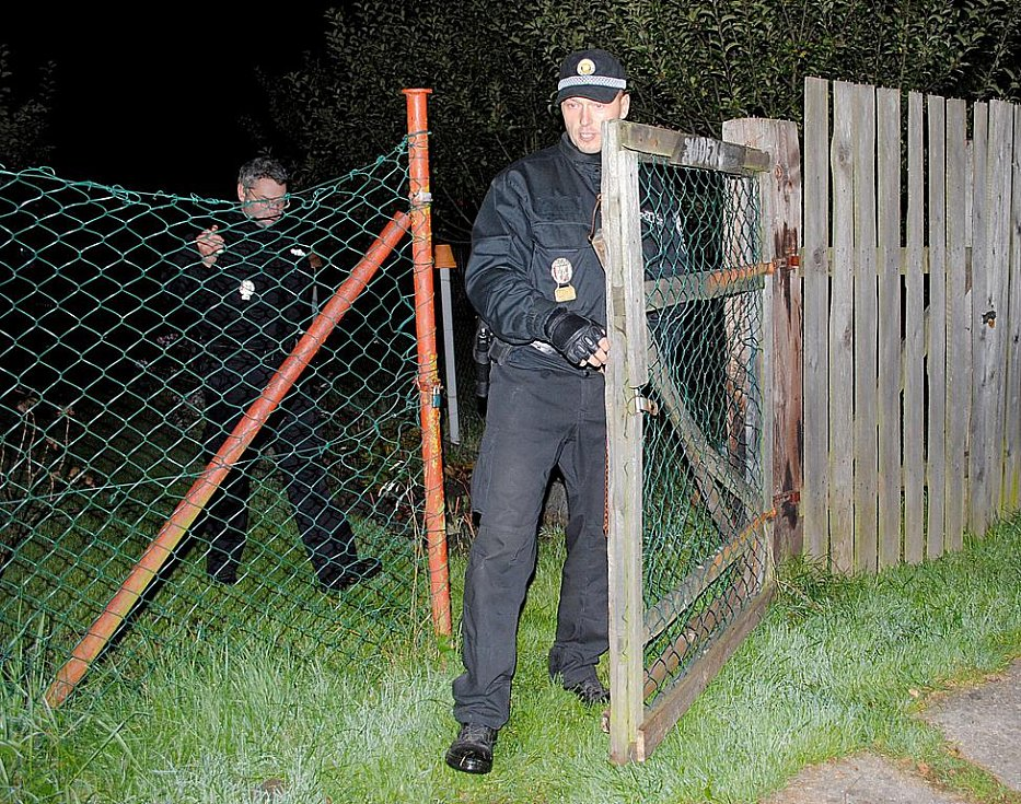 Noční služba strážníků v Aši.
