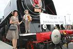 Lidé oslavili výročí 150 let železniční tratě mezi Chebem a Karlovými Vary.