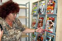 Zrekonstruované prostory chebské knihovny.