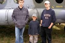 Milan Pavlovic, Petr Němec a Jakub Kaplan (zleva). Úspěšní mariánskolázeňští modeláři