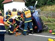 Osobní vlak se včera srazil s automobilem na přejezdu v Hazlově u Aše.