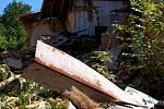ZBYTEK BÝVALÉ restaurace Myslivna v Chebu, do které se pustil bagr a rozebral ji do základů.