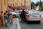 Dopravní nehoda u Kasárního náměstí v Chebu