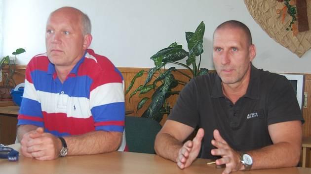 Karel Makovec a Miroslav Kanis na setkání s fanoušky